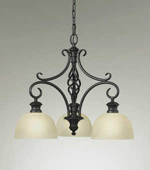 Murray Feiss F2298/3BK Alexandria 3-Light Kitchen Chandelier Black
