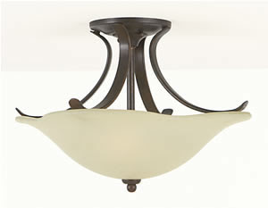 Murray Feiss SF213GBZ Morningside 2 Light Semi-Flush Ceiling Fixture Grecian Bronze