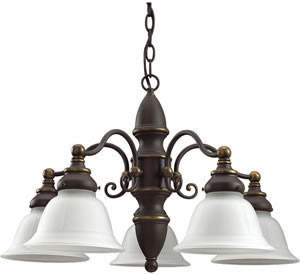 Sea Gull 39051BLE-71 5 Light Canterbury Fluorescent Chandelier Antique Bronze