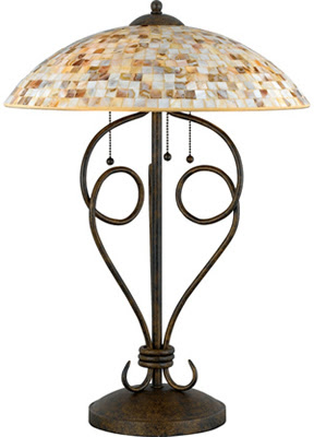 Quoizel MY6325ML Monterey Mosaic 3 Light Table Lamp Malaga