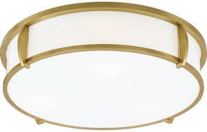 Quoizel LSS1621NR Laurie Smith Sequel 3 Light Flush Mount Ceiling Fixture Natural Brass