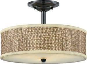 Quoizel ZE1717K 3 Light Zen Semi-Flush Mount Mystic Black
