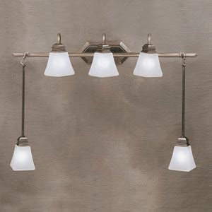 Kichler 5104AP Polygon 5 Light Bath Swag Antique Pewter