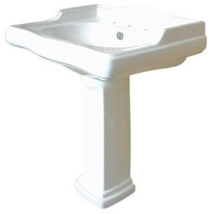 Kingston Brass VPB4278 English Country Pedestal Bathroom Sink