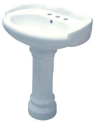 Kingston Brass VPB1258 Georgian Pedestal Bathroom Sink