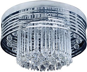 Elk 30021/13 Rados 13 Light Flush Mount In Polished Chrome