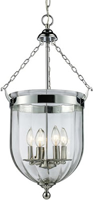 Z-Lite 137-28 Warwick 4 Light Foyer Pendant Brushed Nickel