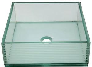 Kingston Brass EVSQTC4 Crystal Glacier Vessel Sink - Crystal Clear