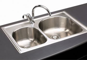 Elkay ECG3322L Elumina Double Bowl Self-Rimming Stainless Steel Kitchen Sink