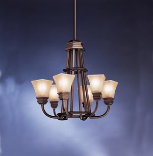 Kichler 1660OLZ Polygon 6 Light Chandelette Oiled Bronze