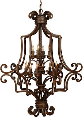 Craftmade 8139AG12 Riata Large 12 Light Foyer Pendant Aged Bronze