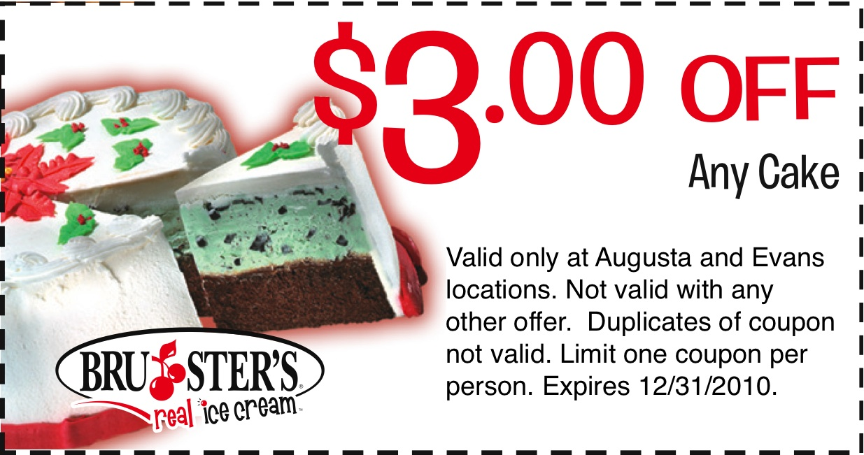 Bruster's ice cream coupons