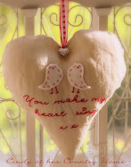 "Free stitcherie pattern ""You make my heart sing"""