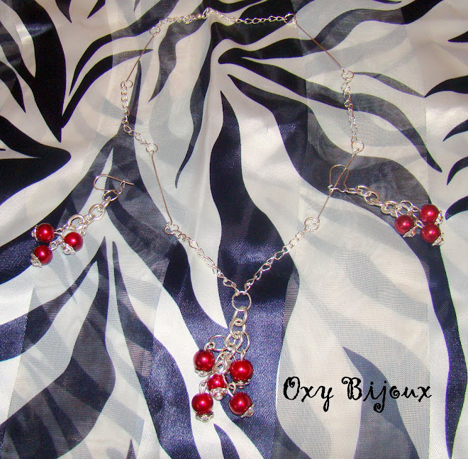 Set colier si cercei, perle si lant argintiu- pret 15 RON (S9)