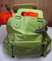 Namaste Laguna knitting bag in Lime