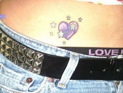 You can most likely see small heart tattoos on girls and they often