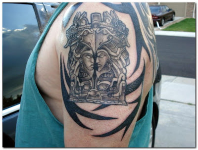 Aztec Tattoos Designs for Man