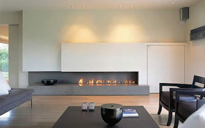 New Minimalist Home With Fireplace