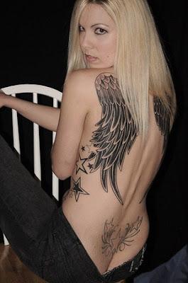 Back angel wing tattoos