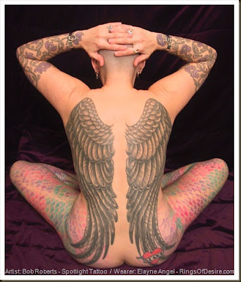 Best angel wing tattoos