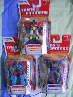 Classic Transformers Legends Class Optimus Prime Soundwave Hot Shot Autobots Decepticon
