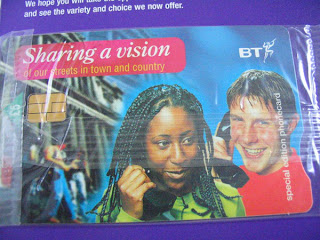 British Telecom Sharing a vision Limited Edition 5 pound BT Telephone Card
