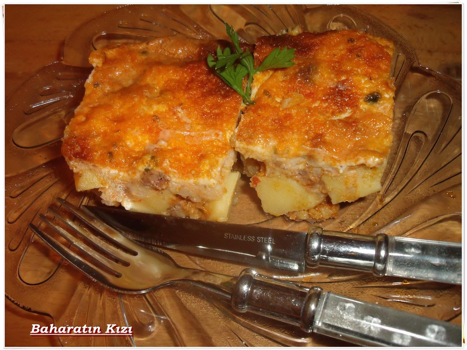Fırında Kıymalı Patates Oturtma Tarifi