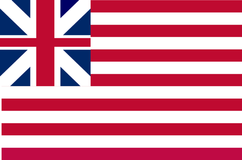 The Grand Union Flag (Continental Colors)
