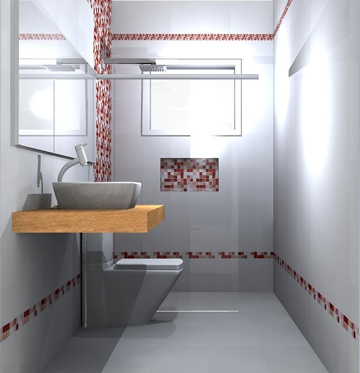 Banheiro Menino pastilha vermelha, branca e incolor  Coisas de Lélia -> Banheiro Com Pastilha Na Parede Do Chuveiro