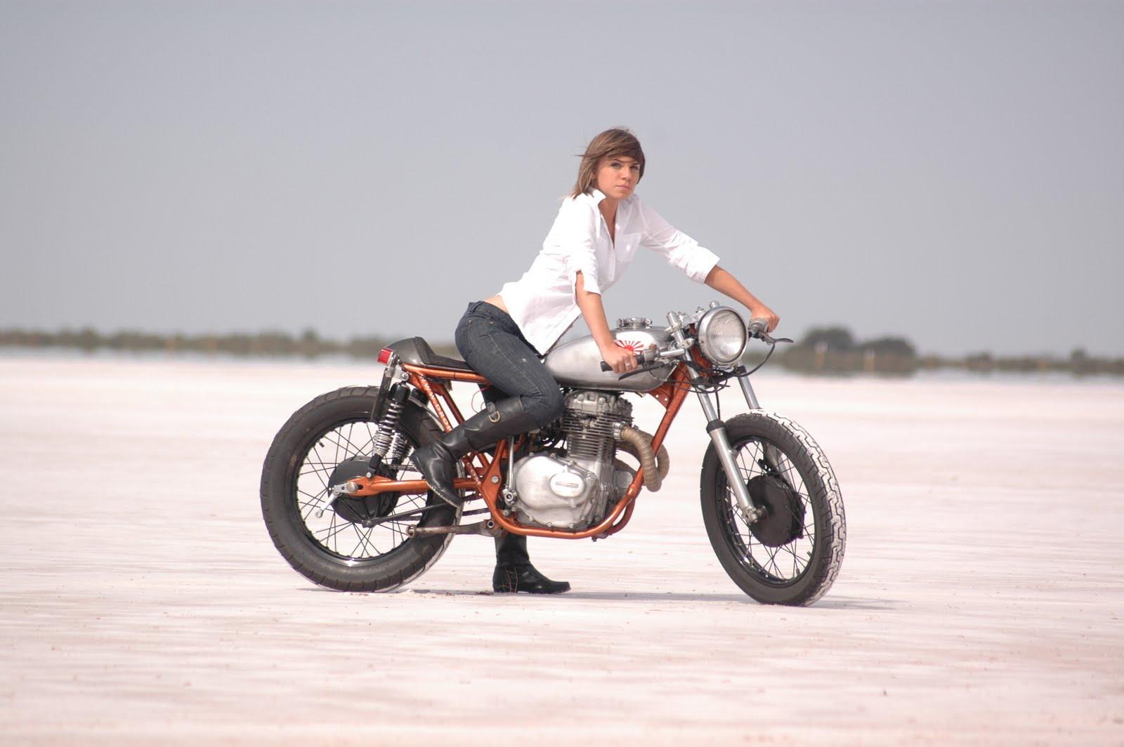 Motorcycle girl desert nude boob teens