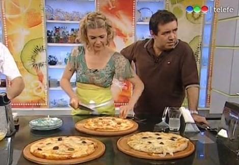 titulo de la receta pizza a la piedra autor maru botana programa sabor