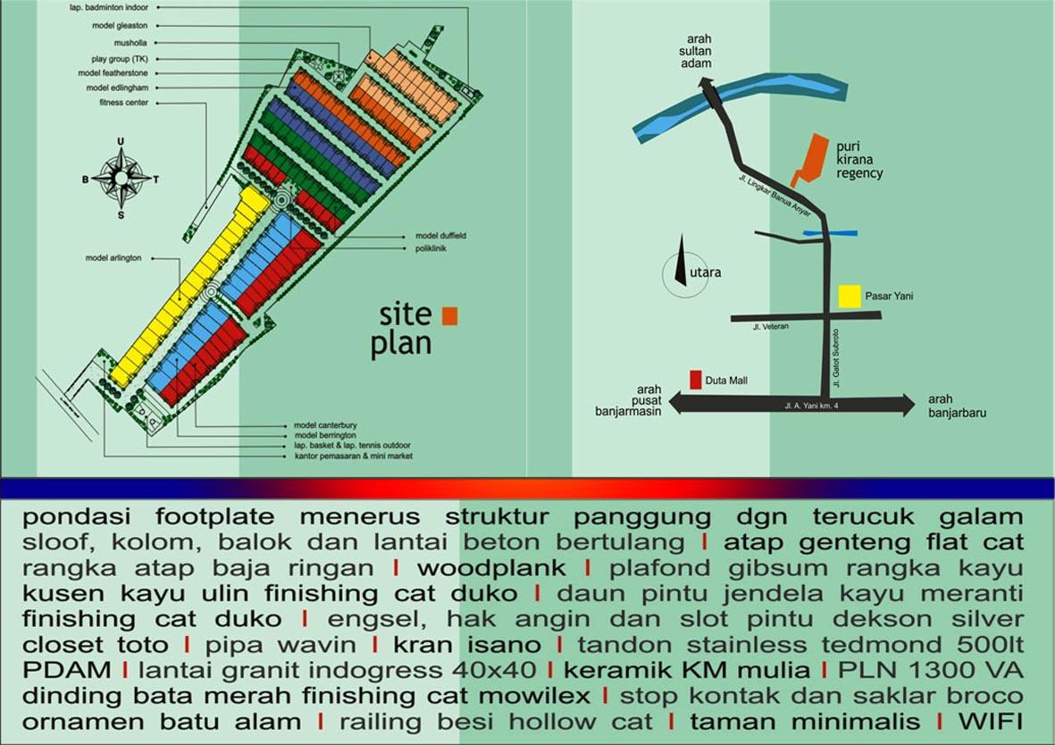 Site Plan, Fasilitas, Lokasi dan Spesifikasi Rumah