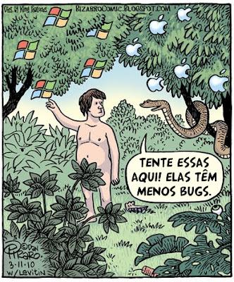 A Apple têm menos bugs