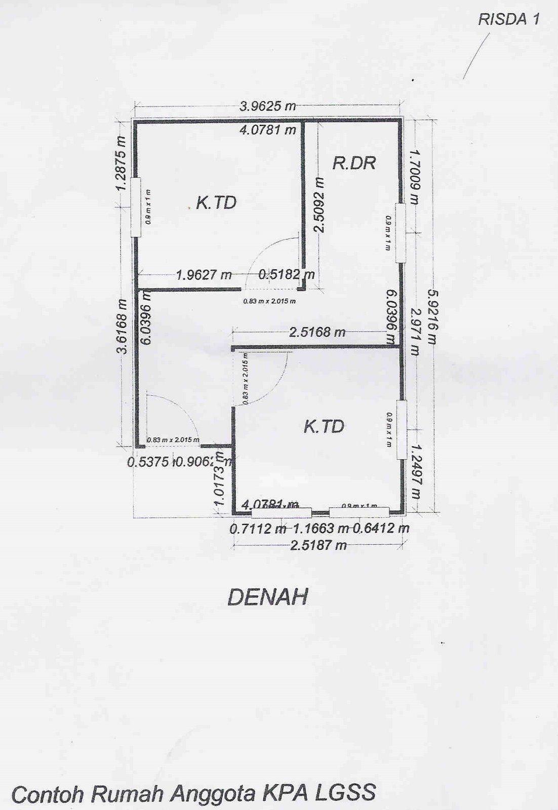 Denah Contoh Rumah Anggota KPA LGSS