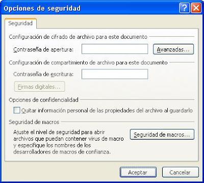 proteger presentación powerpoint - opciones de seguridad