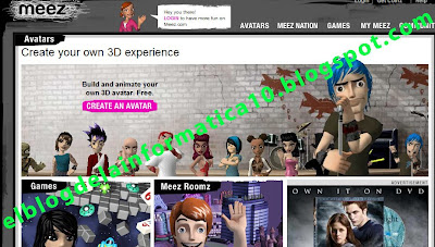 crear avatar en 3D - página principal