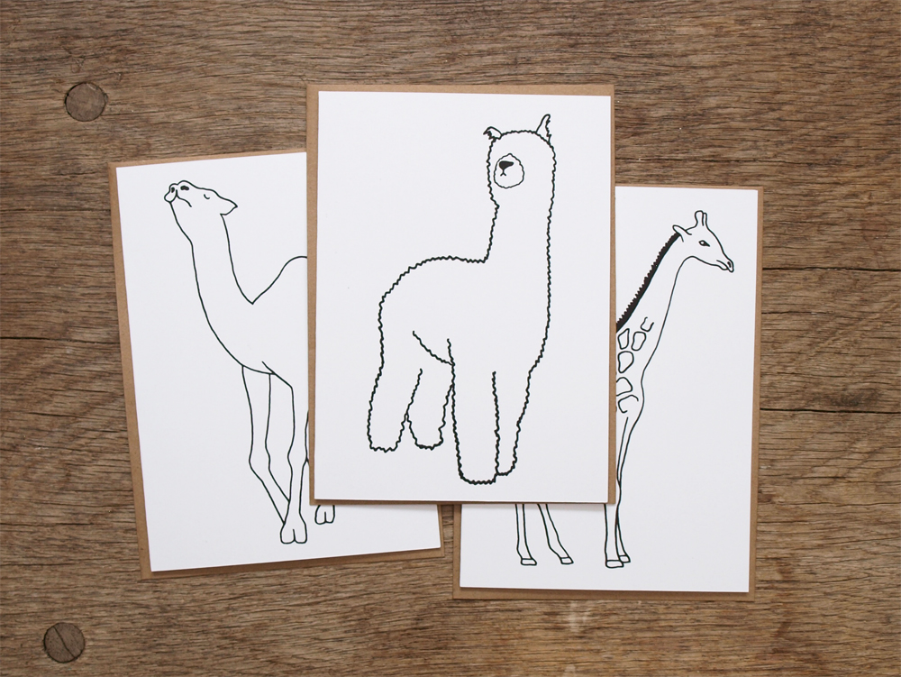 PAWLING | print studio - Long Necked Animal Cards