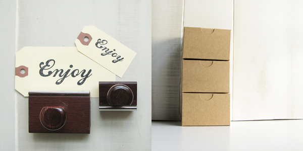 Olive Manna - tag stamp duo + kraft gift boxes