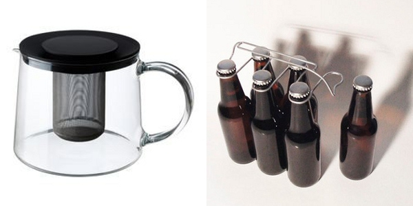 Ikea Riklig Teapot and Oooms Sixpack Bottle Carrier