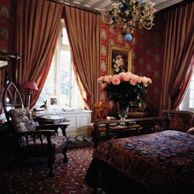 1000 images about designer jacques grange on pinterest for Chambre chateau