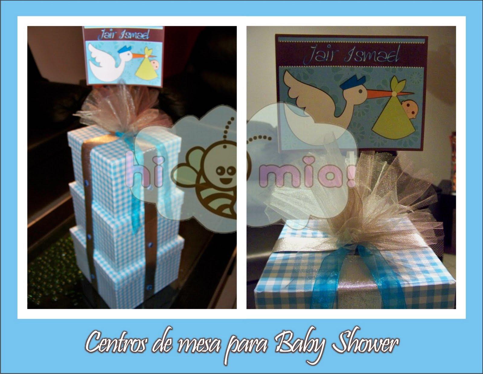 centros de mesa para baby shower con el tema ciguena