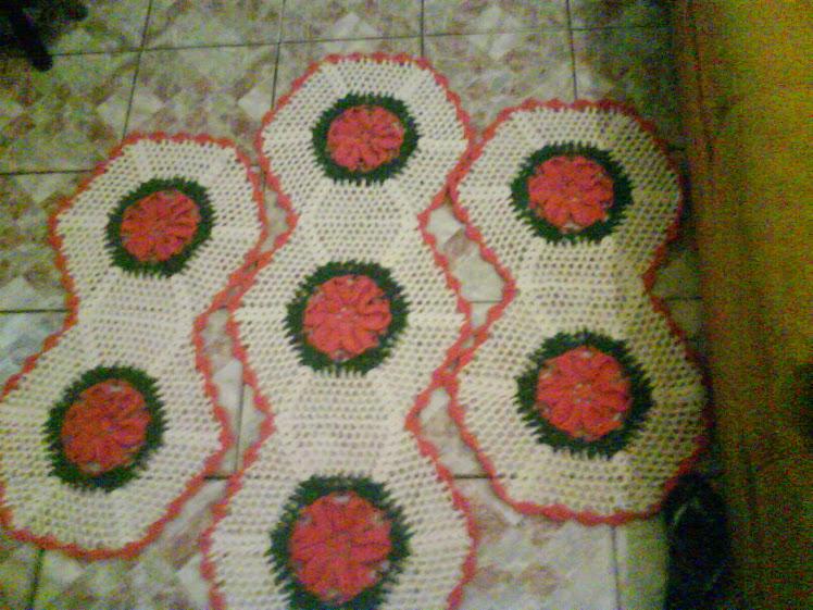 jogo de cozinha em flores