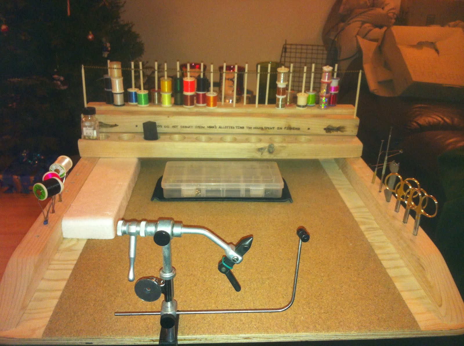 Woodworking Plans Can Crusher Portable Fly Tying Bench Plans Wooden Plans