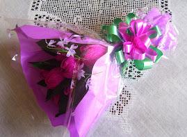 Bouquet - botões de rosas com bombons