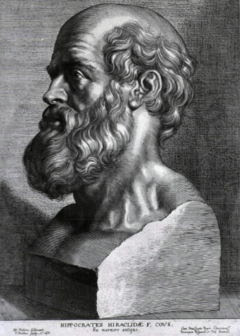 قسم ابوقراط (قسم الاطباء اثناء التخرج) على روزيتا اول اب 240px-Hippocrates_rubens