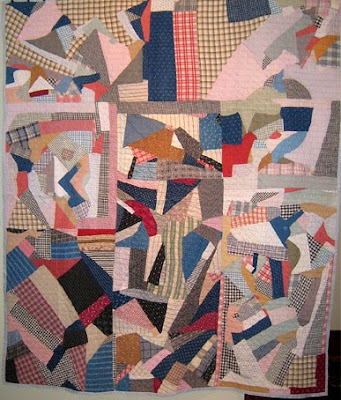 African American Patchwork Quilt   Ca  1900 1920  78 X 81  At
