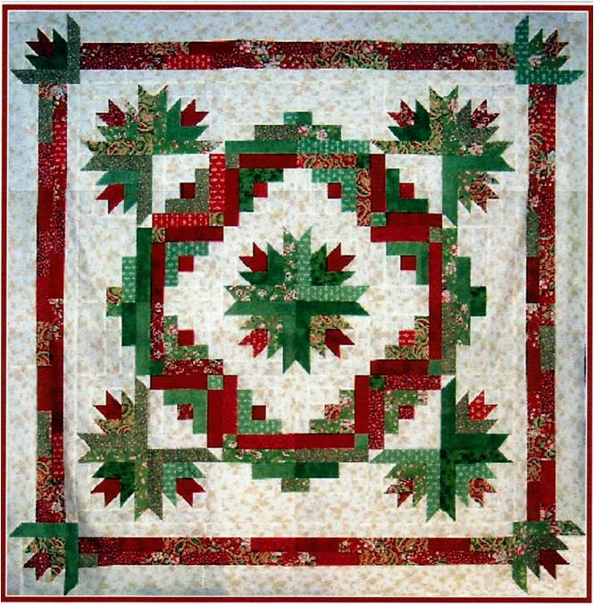 Quilt Inspiration: Inspired by red and green - two