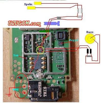 nokia 1200 1208 1209 no sound mic ear speaker ringer problem