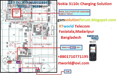 nokia 3110c and Nokia 3500c not charging ic problem