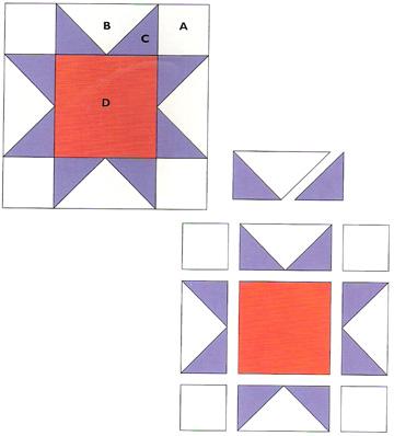 Civil War Quilts: 2 North Star : north star quilt block - Adamdwight.com